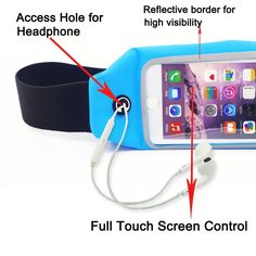 """Waist Pack, Smarco Adjustable and Touchscreen Running Belt for iPhone6, iPod, Keys, Cash and Credit Cards - Ideal for Jogging, Gym, Running, Workout, Hiking or Other Sports-(Two Size 4.7""""and 5.5"""") Running Belt, Bank Card, Waist Pack, Workout Gear, Jogging, Ipod, Iphone 6, Packing, Gym"""