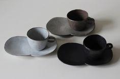 cup & twin saucer - Kaori Tatebayashi Ceramics