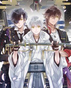 Ookurikara & Shokudaikiri Mitsutada & Tsurumaru Kuninaga   Touken Ranbu #game #anime