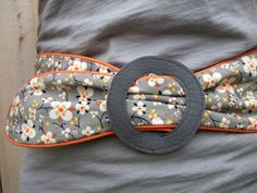 Tutorial: Belt with piping edge + self-made vinyl buckle