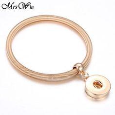 18 Designs Gold Silver Snap Bracelet For Women Men Fit DIY 18mm Snap B – Sattaj Collections