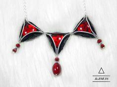 Ketten mittellang - Bermuda Halskette mit Glaslinsen - ein Designerstück von…