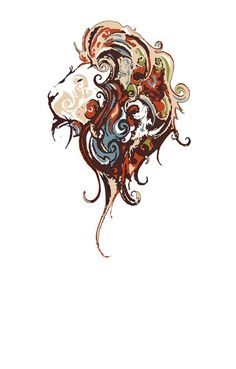 Nice colors! Lion tattoo. Want this on my side or outer thigh.