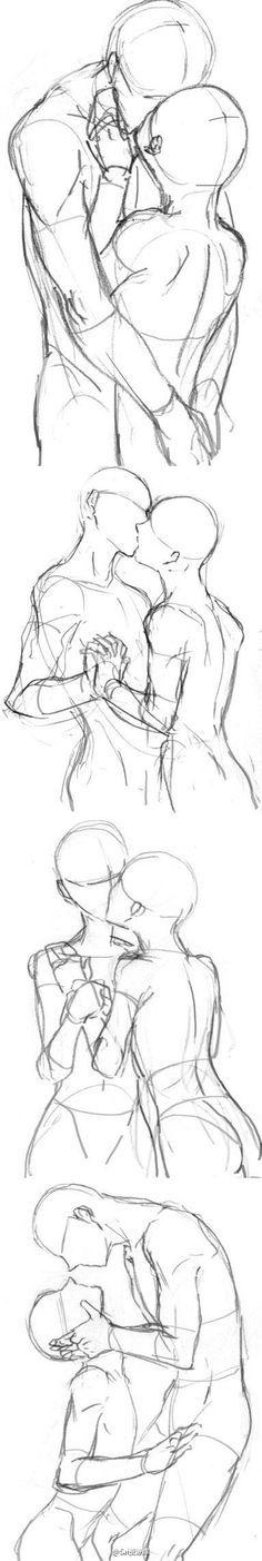 Posições de beijo para desenhar