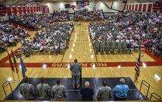 Scenes from the activation ceremony for the Wagner 155th Engineering Company of the South Dakota National Guard at the Wagner Community School Gymnasium on Tuesday afternoon in Wagner. (Matt Gade/Republic)