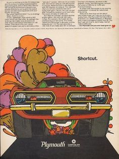 1968 Plymouth BARRACUDA ad. ((Namesake to one of my favorite 1980s…