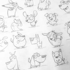 A lot of dogs. Stickers concept A lot of dogs. Cartoon Drawings, Easy Drawings, Animal Drawings, Dog Drawings, Dog Tattoos, Cat Tattoo, Arte Sketchbook, Little Poney, Trendy Tattoos