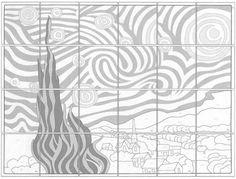 Starry Night collaborative art project diagram