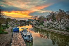Timisoara - Bega Canal by Antonius Plaian, Short Jokes, Romania, Best Funny Pictures, Wanderlust, Skyline, Boat, River, City, Places