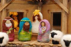 Nativity Set for Children Needlefelted Wool by BeneathTheRowanTree, $220.00
