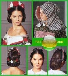 HEADBAND AND SNOOD: Simplicity 5740 Victorian Civil War Era Headwear Hat Patterns