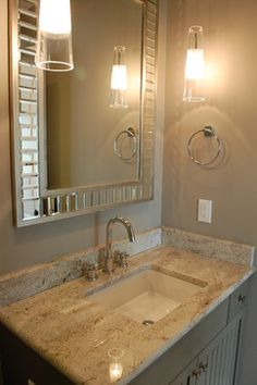 Fawn brindle paint by sherwin williams, Figure 8 Island traditional bathroom