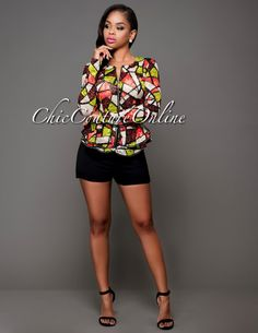 Chic Couture Online - Hypnotize Orange Lime Mosaic Lace Peplum Jacket, $55.00 (http://www.chiccoutureonline.com/hypnotize-orange-lime-mosaic-lace-peplum-jacket/)