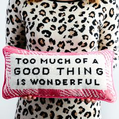 Wonderful Needlepoint Pillow | Furbish Studio