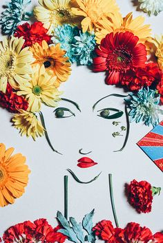 My Flower interpretation of Tommy Hilfiger Spring 2015! #TommySpring15