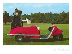Golf Cart - Great Golf Tips Everyone Needs To Learn Miniature Golf, Vintage Golf, Camper Life, Sports Art, Retro Art, Golf Carts, Golf Tips, Vintage Prints, Golf Courses