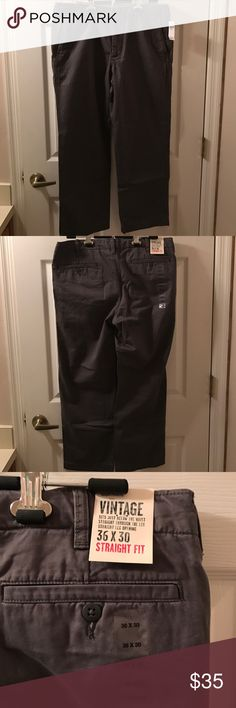 Men's Gap Grey Khaki Pants, 36x30 Brand new Gap men's khakis, gray, 36x30. Never worn GAP Pants Chinos & Khakis