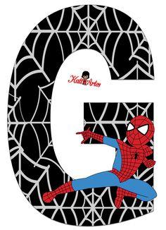 EUGENIA - KATIA ARTS - LETTRES ET CUSTOM BLOG quelques choses: Spiderman - lettres et chiffres