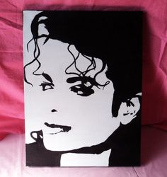 Michael Jackson Pop Art Painting on Stretched by FandomTandom, $35.00