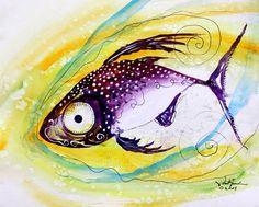 """J Vincent Scarpace """"Hurricane Fish 7"""""""