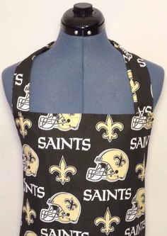 New Orleans Saints Full Size BBQ Apron by AuntShellDesigns on Etsy