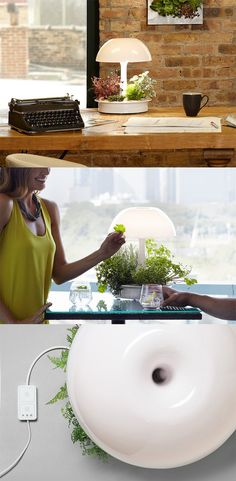 'Ambienta' is a lamp which not just lights up the room, but also shines down on the plants, reminding us that light is synonymous with growth/nourishment... READ MORE at Yanko Design !