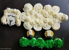 Cooking With Carlee: How to Make a Lamb Cupcake Cake