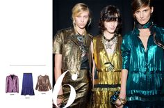 jewel-colored, iridescent metallics in many hues