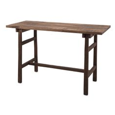Farm Work Desk - IMAX some inspiration to your home office or workspace with this hand scraped look rustic wood work desk. With its simple design and neutral tones, the farm work desk complements any interior style or color scheme.