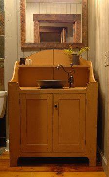 Central Kentucky Log Cabin Primitive Kitchen eclectic bathroom