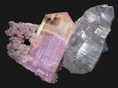 Spodumene (aka Kunzite), Quartz & Lepidolite cluster from Afghanistan.