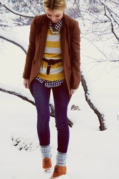 i love when people pull off mixed patterns like this.