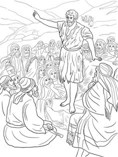 John The Baptist Preaching In Wilderness Coloring Page From Category Select