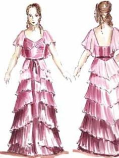 "Concept art of Hermione Granger in Yule Ball gown from ""Harry Potter and the Goblet of Fire"" (2005)."