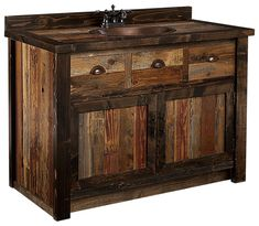 Barnwood Furniture Collection Bathroom Vanity | Bass Pro Shops: The Best Hunting, Fishing, Camping & Outdoor Gear