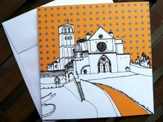 All Occasion Card with Architectural Sketch San Francesco