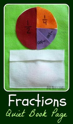 And Next Comes L: Fractions Quiet Book Page