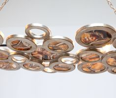 Master bath light option 3: silver/ agate Chandeliers | Made Goods