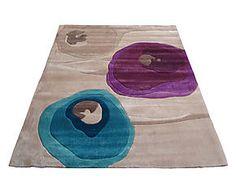 Tappeto POPPY TEAL PURPLE beige, viola e blu - 80X150 cm