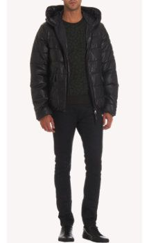 Duvetica Dionisiotre Quilted Leather Puffer Jacket