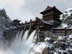 china dam, lok du on ArtStation at https://www.artstation.com/artwork/3blKA