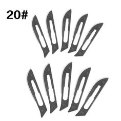 10 Pcs One Lot 20# Multi-function Surgical Knives Blades Replacement PCB Repair Knife  Paper Cut Blades Free Shipping