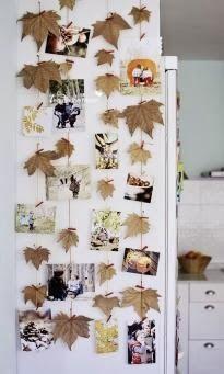 Guirnalda con hojas de otoño