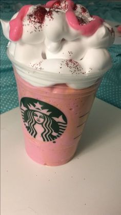 Starberry Carmel Starbucks slime! This is from the Instagram account @slimey_ducky_21!It looks so real omg!
