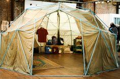 External framework.  Vintage Tent at Field Study