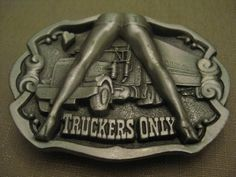 Never Worn Pewter Truckers Only Belt by vtseredipityboutique