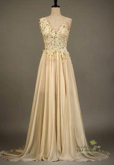 Custom made wedding dress, $600