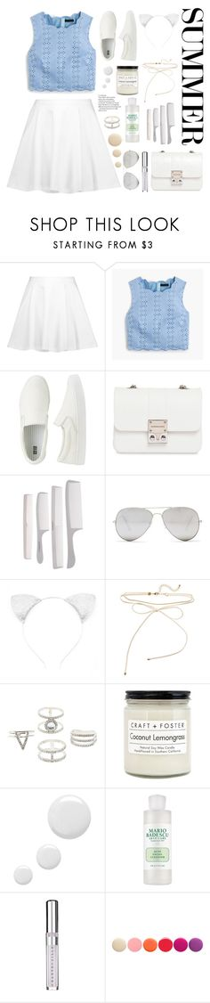 """Summery Sunday"" by belleshines ❤ liked on Polyvore featuring Alice + Olivia, J.Crew, Uniqlo, Design Inverso, Sunny Rebel, Charlotte Russe, Craft + Foster, Topshop, Chantecaille and Deborah Lippmann"