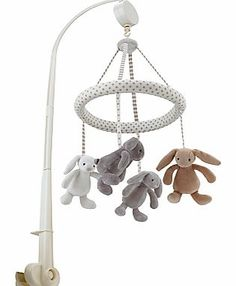 Jellycat Bashful Musical Mobile This fun mobile features some of the most popular Bashful bunny characters. It plays soothing music and is sure to make a charming addition to any nursery. http://www.comparestoreprices.co.uk/baby-toys/jellycat-bashful-musical-mobile.asp