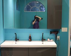 Valspar Peacock Blue and Ikea Bathroom
